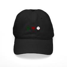 Peace Love Baseball Baseball Hat