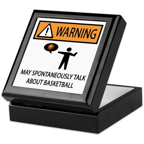 Spontaneously Talk Basketball Keepsake Box