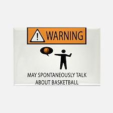 Spontaneously Talk Basketball Rectangle Magnet