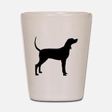 Coonhound Dog (#2) Shot Glass