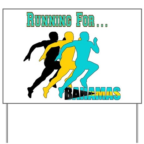 Bahamas Running Yard Sign