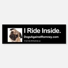 Bumper Sticker (Pug) I Ride Inside