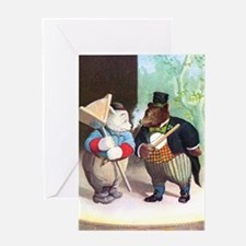 Roosevelt Bears As Actors Greeting Card