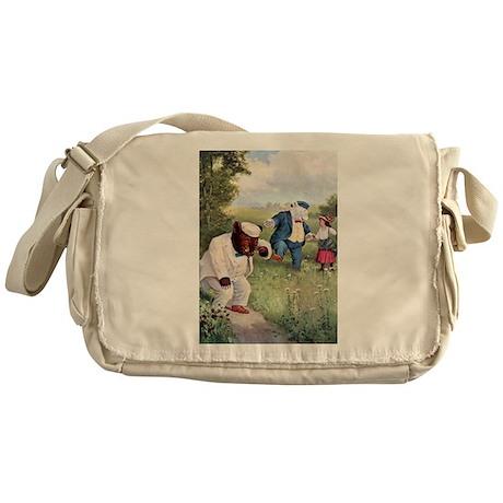 Roosevelt Bears and Little Bo Peep Messenger Bag