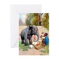Roosevelt Bears and The Elephant Greeting Card