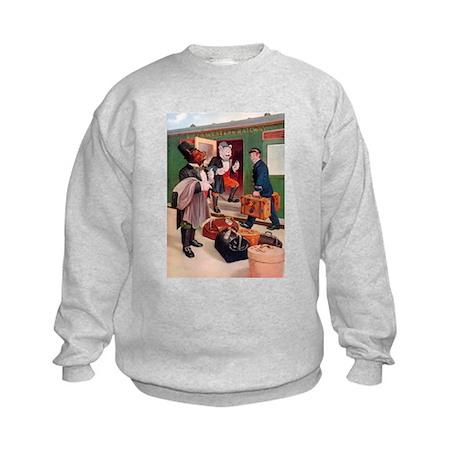 Roosevelt Bears Board a Train Kids Sweatshirt