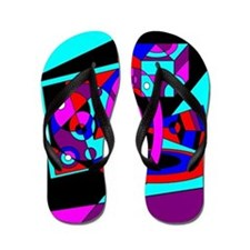 Flamboyant Flip Flops Abstract 1