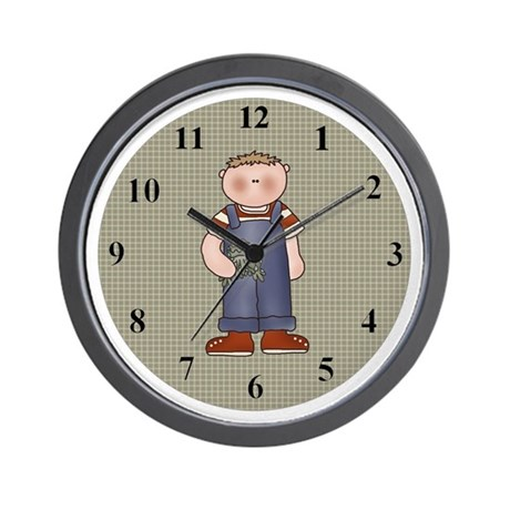 Boys Love Frogs Wall Clock By Toddlersplace