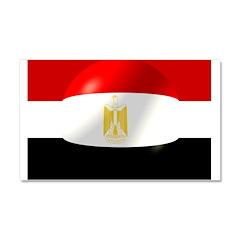 Egyptian Flag Design Car Magnet 20 x 12