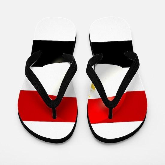Egyptian Flag Design Flip Flops
