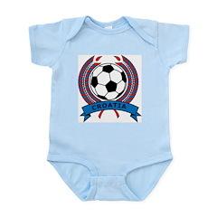 Soccer Croatia Infant Creeper