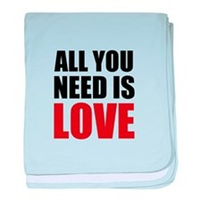 All You Need Is Love baby blanket