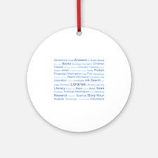 Blue Tag Cloud Ornament (Round)