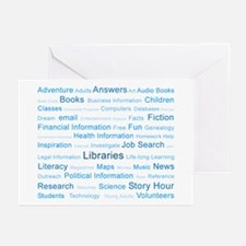 Blue Tag Cloud Greeting Cards (Pk of 10)