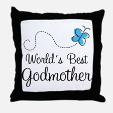 Godmother (World's Best) Gift Throw Pillow
