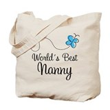 Best nanny Canvas Totes