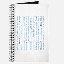Blue Tag Cloud Journal