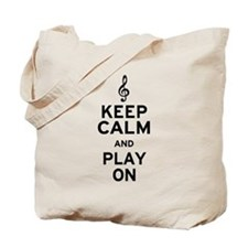 Keep Calm Treble Clef Tote Bag
