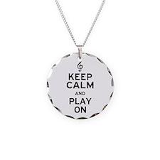 Keep Calm Treble Clef Necklace