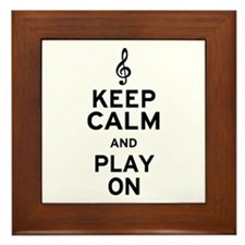 Keep Calm Treble Clef Framed Tile