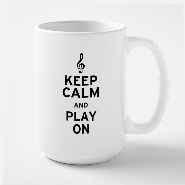 Keep Calm Treble Clef Large Mug