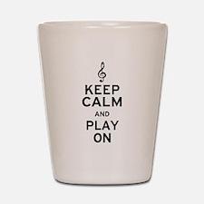 Keep Calm Treble Clef Shot Glass