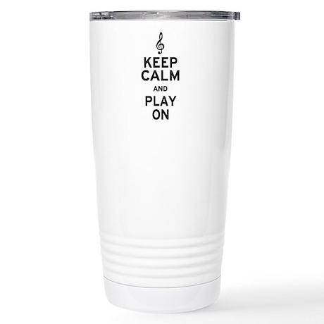 Keep Calm Treble Clef Stainless Steel Travel Mug