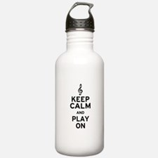 Keep Calm Treble Clef Water Bottle