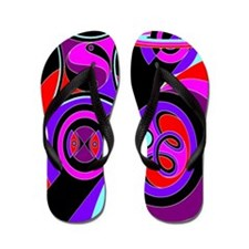 Flamboyant Flip Flops Abstract 4