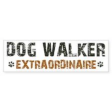 Dog Walker Extraordinaire Bumper Sticker