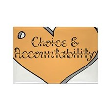 Choice and Accountability - Y Rectangle Magnet