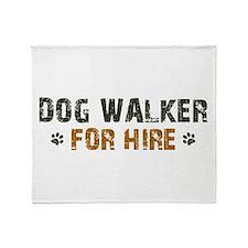 Dog Walker For Hire Throw Blanket