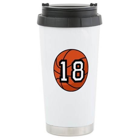 Basketball Player Number 18 Stainless Steel Travel
