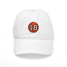 Basketball Player Number 18 Baseball Cap