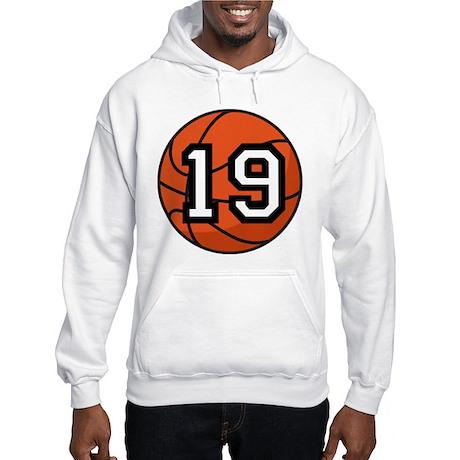 Basketball Player Number 19 Hooded Sweatshirt