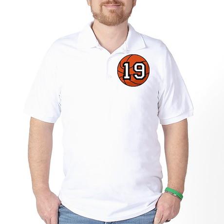 Basketball Player Number 19 Golf Shirt