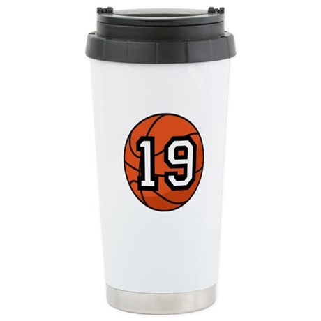 Basketball Player Number 19 Stainless Steel Travel