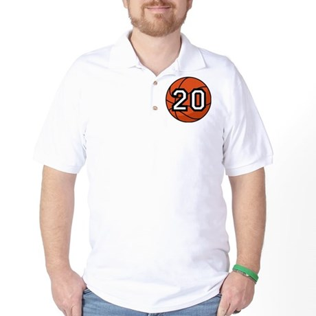 Basketball Player Number 20 Golf Shirt