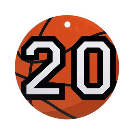 Basketball Player Number 20 Ornament (Round)