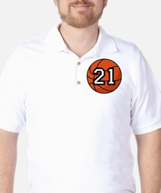 Basketball Player Number 21 T-Shirt