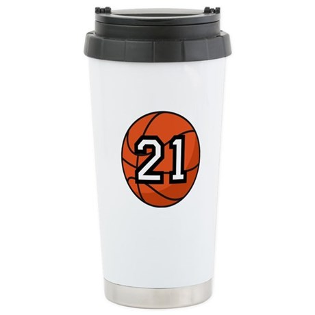 Basketball Player Number 21 Stainless Steel Travel