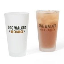 Dog Walker In Charge Drinking Glass