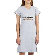 Dog Walker In Charge Women's Nightshirt