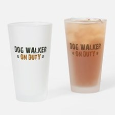 Dog Walker On Duty Drinking Glass