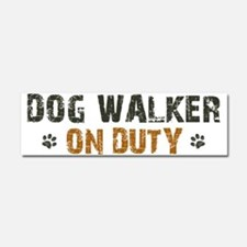 Dog Walker On Duty Car Magnet 10 x 3
