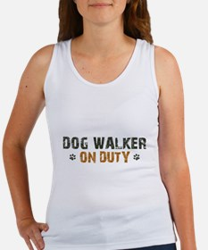 Dog Walker On Duty Women's Tank Top