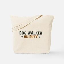 Dog Walker On Duty Tote Bag