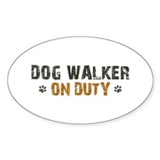 Dog Walker On Duty Decal