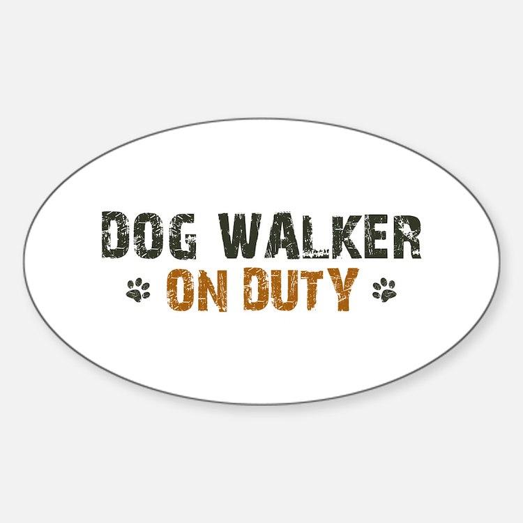 Dog Walker On Duty Decal