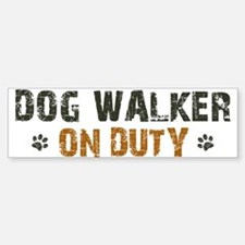Dog Walker On Duty Sticker (Bumper)